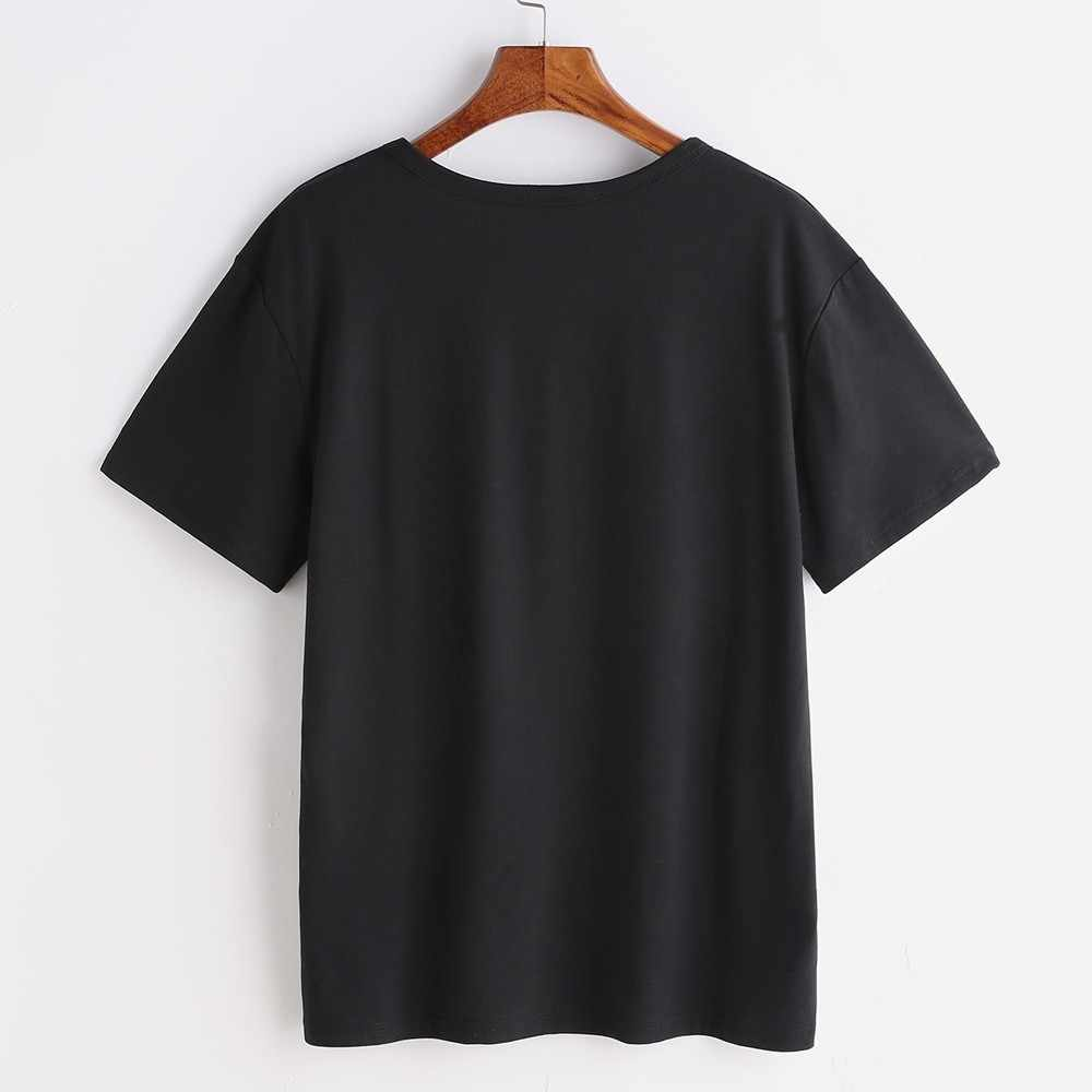 25 # Plus Size T-shirt Vrouwen Grote Borst Print T-shirt Korte Mouw T-shirts Mode Creative Shirt O Hals Tops футболка Женская