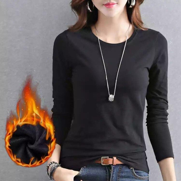 New Autumn Sweater Women Long Sleeve  Plus Velvet Women Casual Bottoming Shirt Women Pullover Sweater Pull Femme Sweatershirt