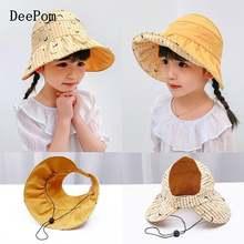 Детская шляпа от солнца deepom для девочек летние шапки детей