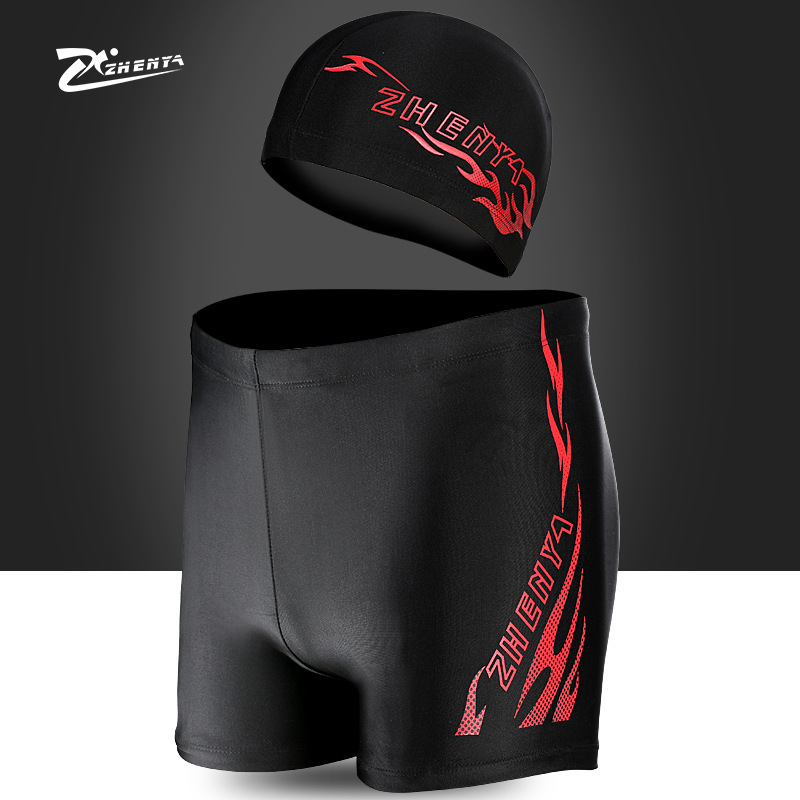MEN'S Swimming Trunks Europe And America Men Quick-Dry Swimming Trunks Large Size Dacron Short Swimming Trunks