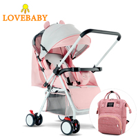 High Landscape Baby Stroller 3 In 1 Travle System Lightweight Folding Baby Carriage 360 Rotation 2 In 1 Luxury 0 3 Y Car Seat