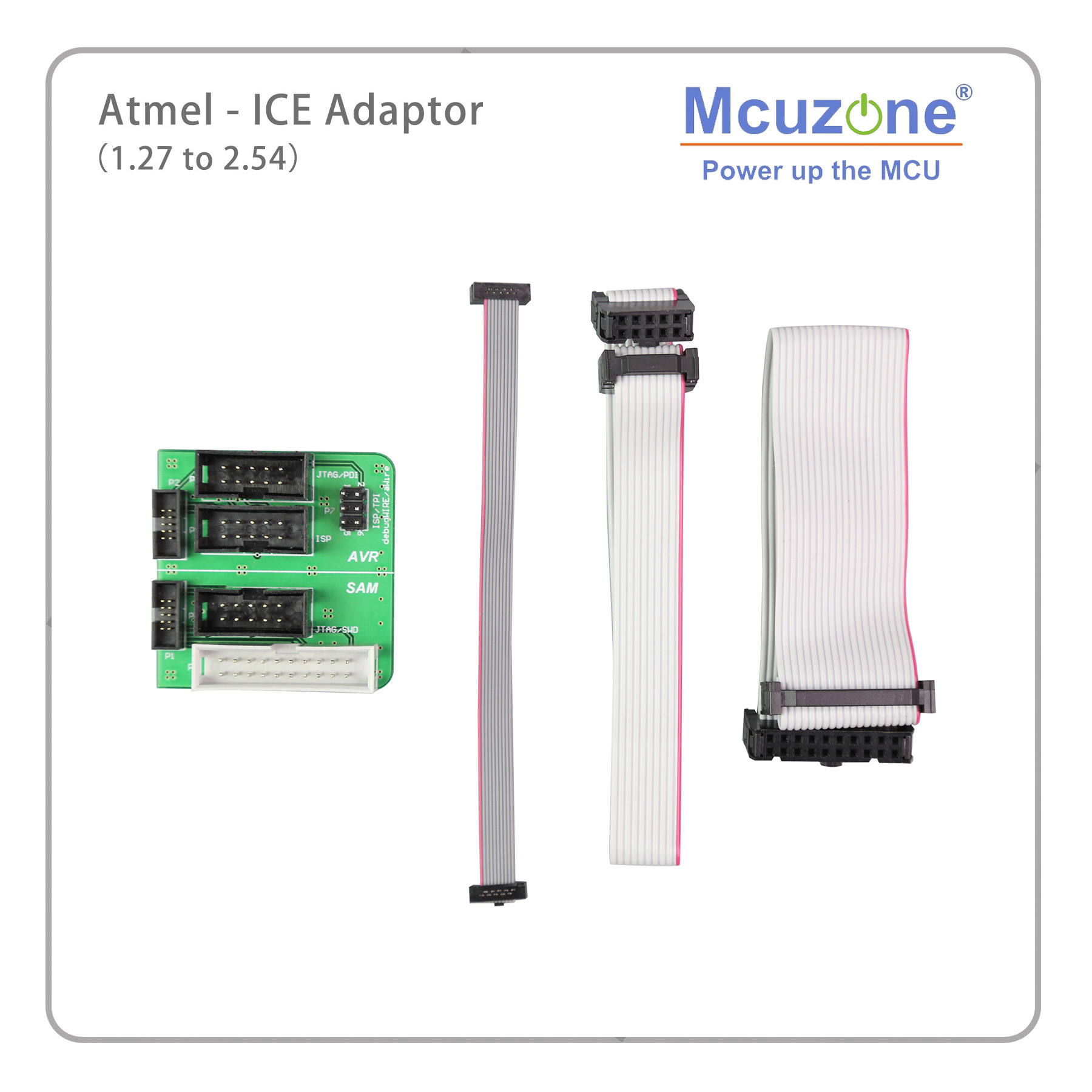 Mcuzone Atmel-ICE  Adapter Board   1.27 TO 2.54  AVR(ISP JTAG PDI TPI) SAM(JTAG SWD) ATATMEL-ICE-ADPT Atmel-ICE Adapter Kit