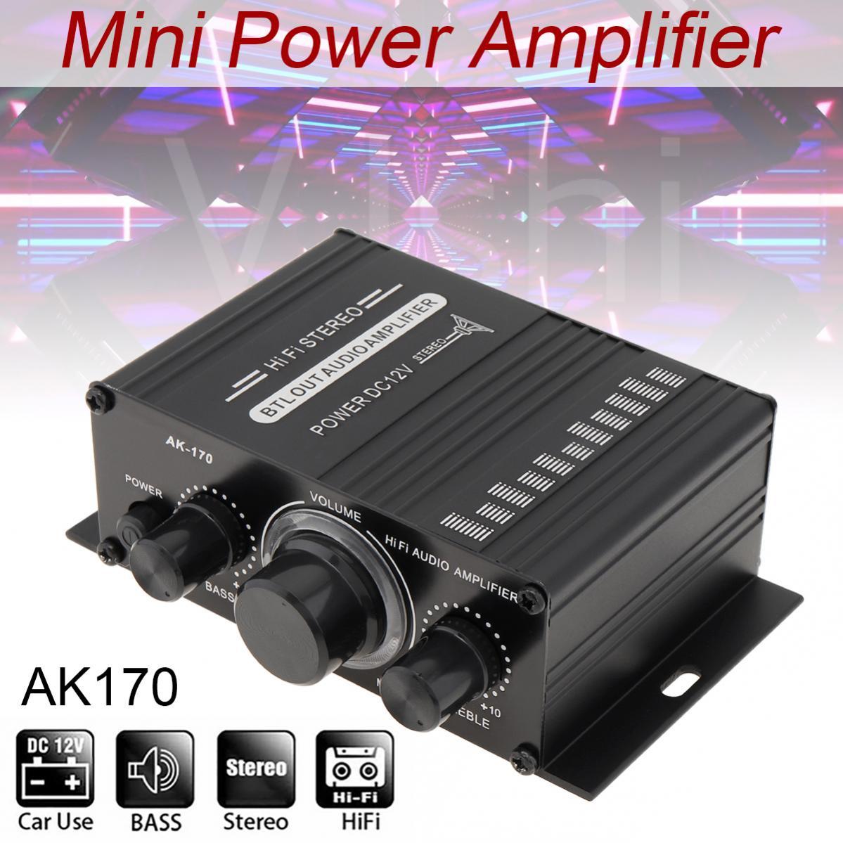 Car Stereo Audio High Power Amplifier Audio Karaoke Home Theater Amplifier 2 Channel Bluetooth Class D Amplifier USB/SD