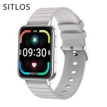 Sitlos 2020 novo t10 homem relógio inteligente bluetooth chamando android pressão arterial ip67 à prova dip67 água oxigênio monitor feminino smartwatch