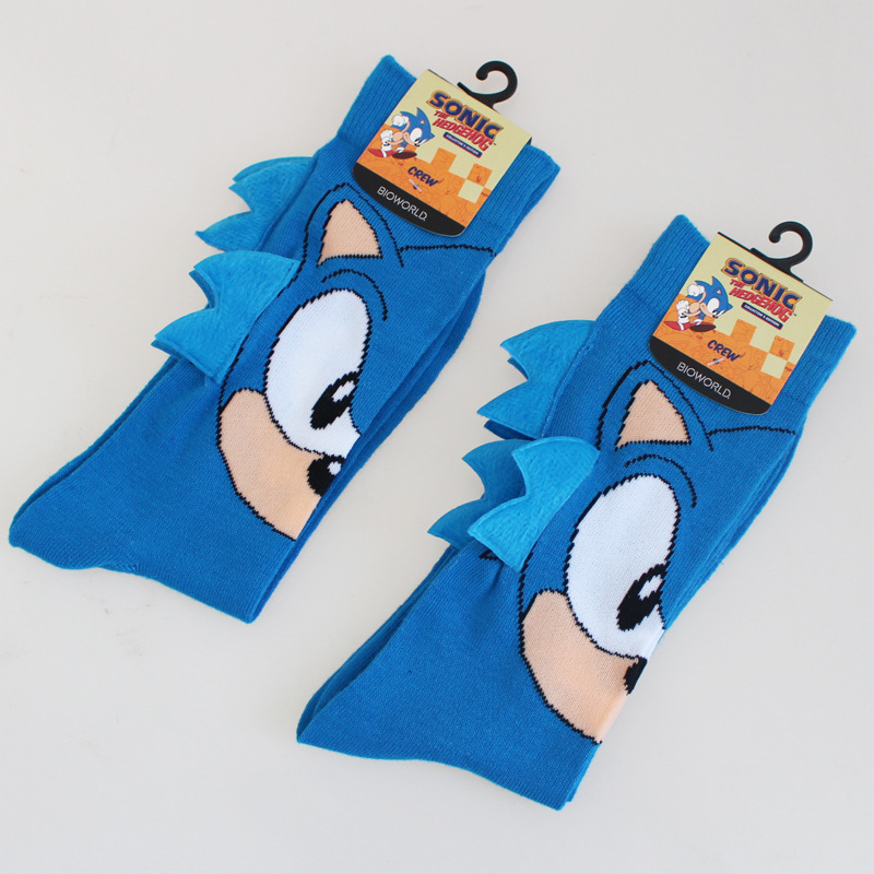 Hot Game Sonic The Hedgehog General Socks Sonic Knee-High Warm Stitching Green Pattern Antiskid Invisible Casual Happy Socks