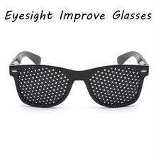 1 sztuk do pielęgnacji oczu ćwiczenia oczu wzrok poprawić okulary okulary okulary czarny Unisex otworki okulary do pielęgnacji oczu okulary tanie tanio centechia Improve Glasses Brak CN (pochodzenie) Other Nie-Wciągające Spolaryzowane 202005 Okulary Tylko Pakiet 2 Black