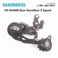 Spor ve Eğlence'ten Bisiklet Vitesi'de Shimano Alivio M4000 9 hız dağ bisikleti bisiklet parçaları FD M4000 arka attırıcı SGS uzun kafes MTB bisiklet aksesuarları vites