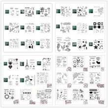 Металлические штампы и прозрачные трафареты для «сделай сам»