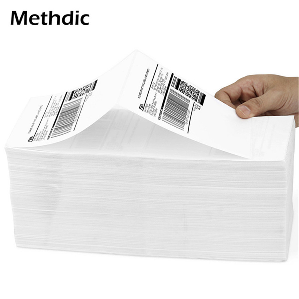 Methdic 4000sheet/dozen Self Adhesive 4x6 Folding  Shipping Label 2 Per Sheet