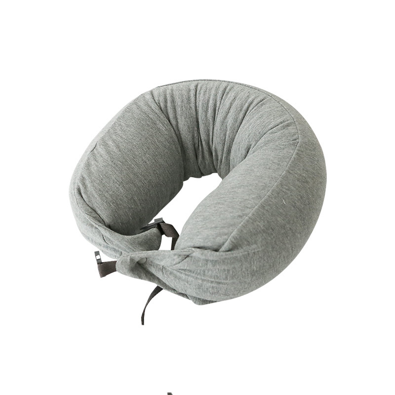 Body Neck Pillow Solid Grey Nap Cotton Particle Pillow Soft Hooded U pillow Textile Home Airplane Car Travel Pillow Accessories in Decorative Pillows from Home Garden