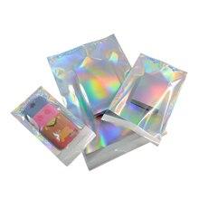 100 stücke Hologramm Aluminium Folie Klebstoff Beutel Kurier Lagerung Taschen Umschlag Poly Mailer Post Versand Mailing Beutel