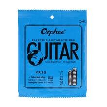 Electric-Guitar-String-Set Orphee RX15 6pcs Nickel-Alloy Super-Light .009-.042