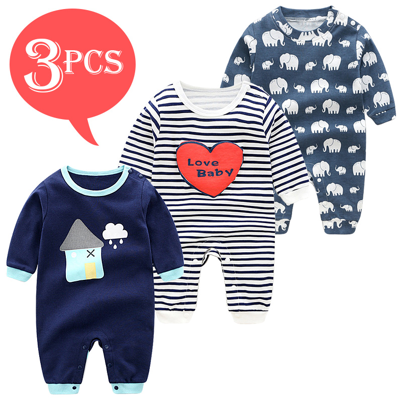 Summer Baby Rompers Spring Newborn Baby Clothes For Girls Boys Long Sleeve Ropa Bebe Jumpsuit Baby Clothing Boy Kids Outfits