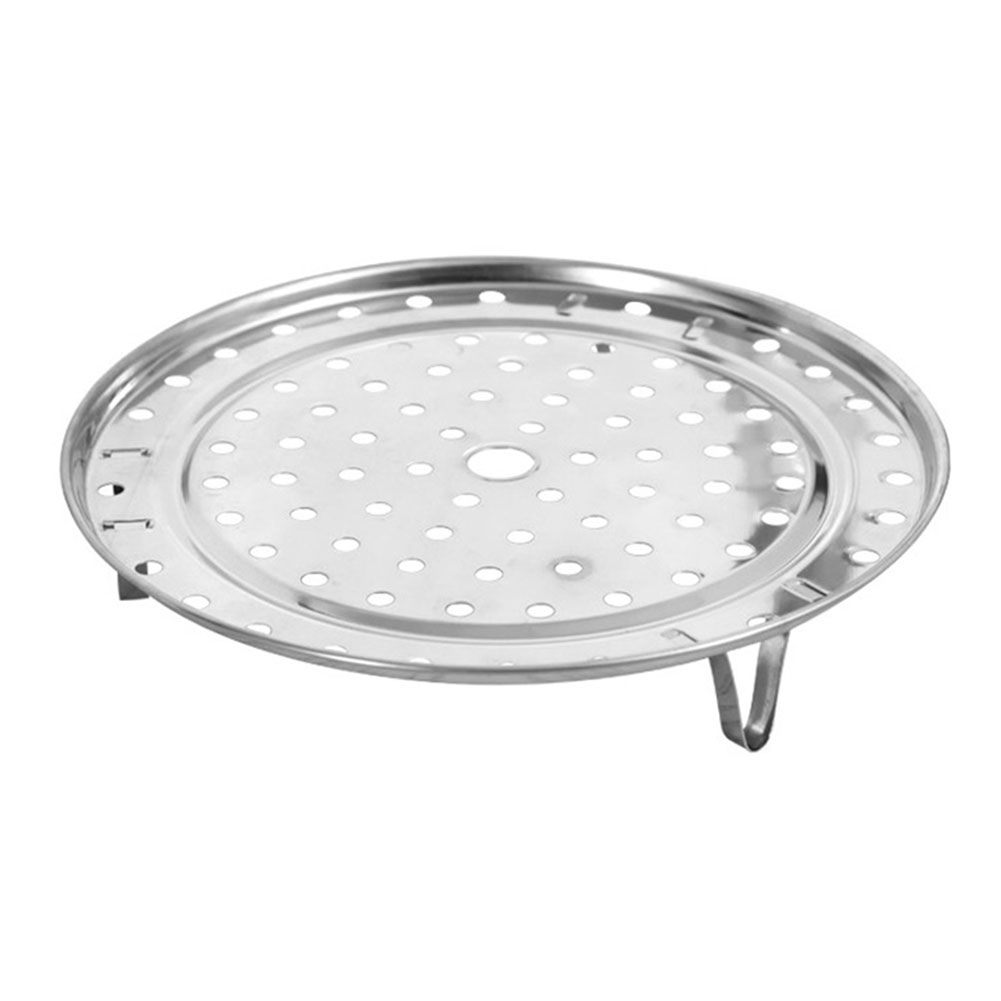 Stainless Steel Stock Pot Cookware Home Multifunctional Round Detachable Stand Insert Kitchen Steaming Tray