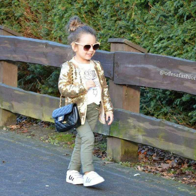 Girls Gold Sequin Coat Toddler Baby Kid Glitter Party Sparkle Jacket Christmas Birthday Gift for 1-5Y
