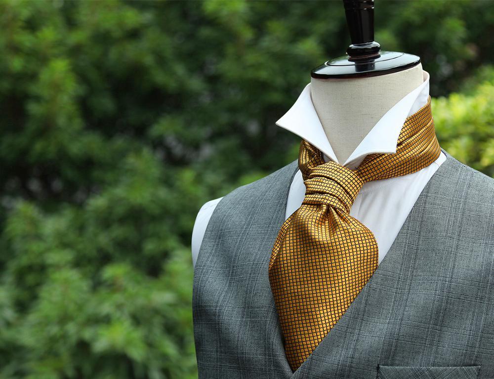 Summer Wedding Cravat Yellow Mens Cravat