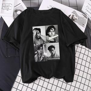 Summer New Loose Short-sleeved Riverdale ins Letter T-shirt Harajuku Print Women Punk Vintage Casual Cartoon streetwear top tees