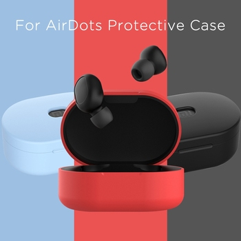 Silicone Earphone Case for Xiaomi MI Redmi AirDots TWS Bluetooth Wireless Headphone Cover For Redmi Airdots Soft Headset Cases image