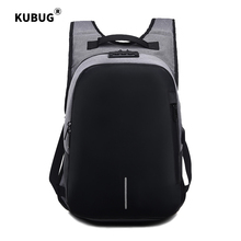 KUBUG 15.6-inch Computer Anti-thief Business Backpack USB Charge Laptop Bagpack for Female Male Travel Mochila Feminina