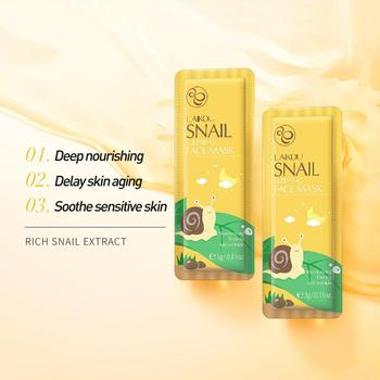Snail Sleeping Mask Pack Disposable Moisturizing Seaweed Care Anti-aging Snail Oil-control Skin Essence Repairing Tea L2L1 image
