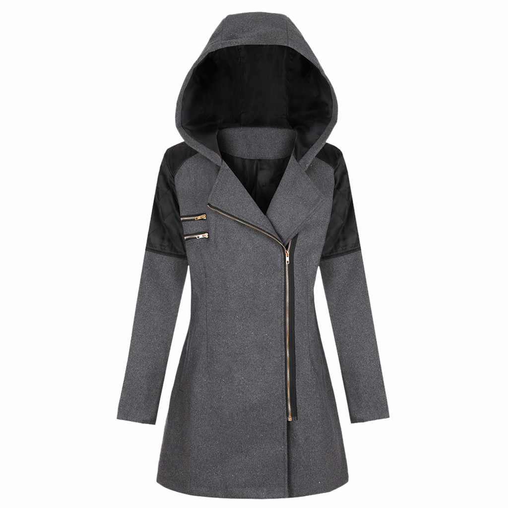KANCOOLD coats MINIMALIST STYLE Winter Warm Outwear Floral Print Hooded Pockets Vintage new coats and jackets women 2019Sep24