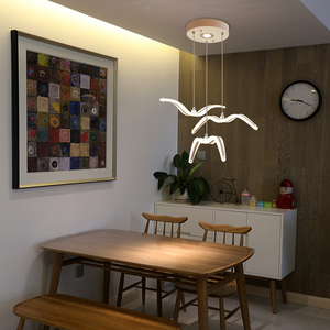 Image 5 - Novelty led Seagull Pendant Lamp for Kitchen Acrylic Led Chandeliers Hanging Light Creative Lestre Suspension Light Fixtures
