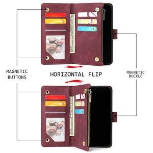 Image 2 - Funda de cuero con solapa multifunción para Oneplus 8 Pro, Funda protectora para Oneplus 8 7 T 7 Pro T7, 360