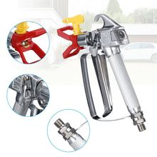 3600PSI Airless Paint Spray Gun High Pressure Aluminum Sprayers with 517 Tip Nozzle Tip Seat Grille for Airless Sprayer Tools professional high pressure airless spray gun g230 g220 suit for tool wager titen electric paint sprayer with nozzle tip 517