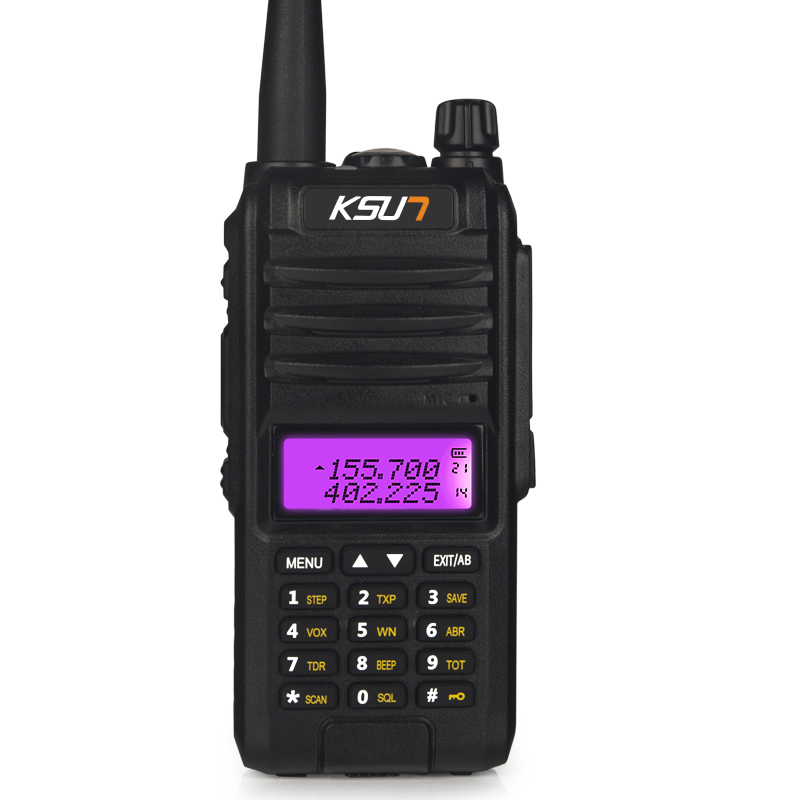 KSUN KS-UV1D Walkie Talkie 8W High Power Two Way Ham Radio Dual Band Handheld Communicator HF Transceiver Amateur Handy