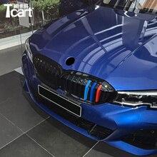 Tcart 3D M Передняя решетка радиатора автомобиля, отделочные полосы, наклейка на решетку для BMW новой серии 3 G20 2019 2020 2021, аксессуары