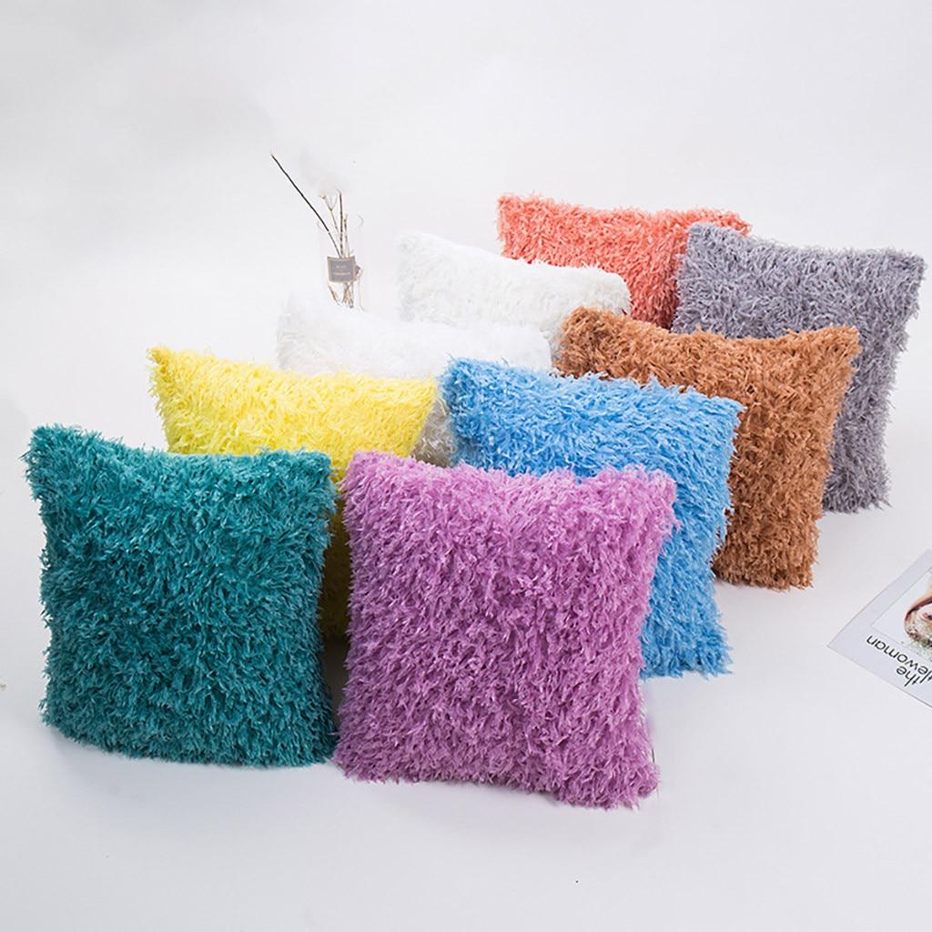 Feather Velvet Cushions Cover Fluffy