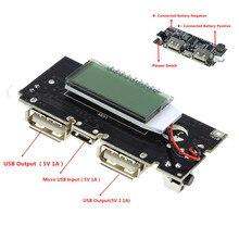 Automatico di Protezione! Dual USB 18650 Battery Charger PCB Modulo di Alimentazione 5V 1A 2.1A Accumulatori E Caricabatterie Di Riserva Per Il telefono Mobile Fai Da Te LED LCD MODULO