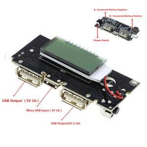 Image 1 - Bảo Vệ Tự Động! 2 Cổng USB 18650 Sạc Pin PCB Mô Đun Nguồn 5V 1A 2.1A Điện Di Động Ngân Hàng Điện Thoại DIY LED Màn Hình LCD mô Đun