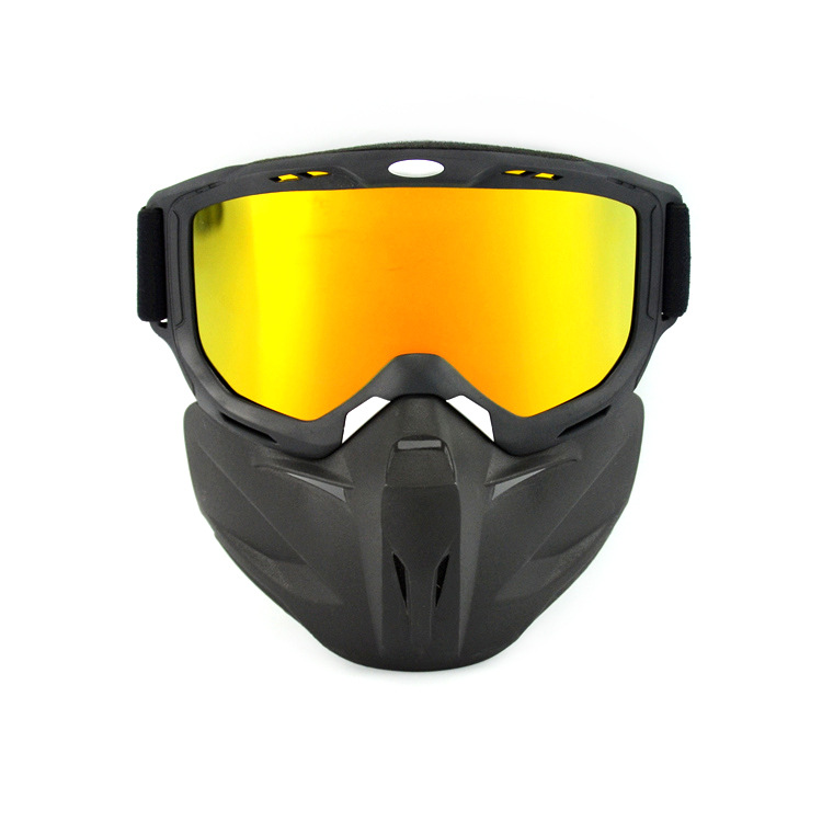 Motorcycle Off-Road Vehicle Mask Goggles Eye-protection Goggles Motorcycle Helmet Goggles Mask Deconstructable Wind-proof Glasse