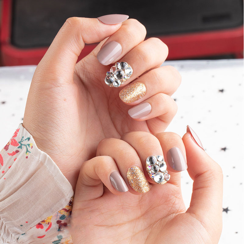 24 unid color unha dicas mulher wearable
