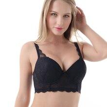 Women Big Breast Bra Sexy Lacy Women Bra 3/4 Cup Underwire Push Up High Quality Big Size Plus Size 30 46D/DD/DDD/E/F/FF/G  L5351