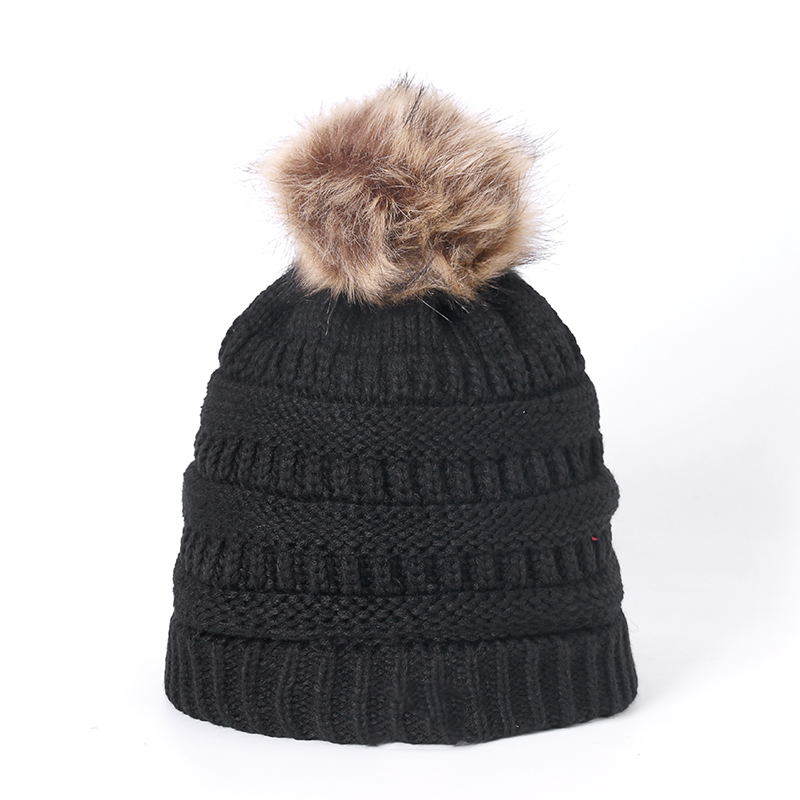 Knitted Hat Winter Hat Fashion Knitted Cap Adult Children Fall Thick And Warm And Bonnet Skullies Beanie Soft Knitted With Tag