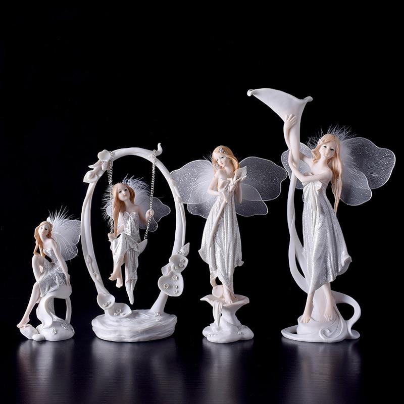 Modern resin angel figurines Arts and Crafts font b Kawai b font wedding decoration gift fairy