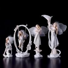 Modern resin angel figurines Arts and Crafts Kawai wedding decoration gift fairy garden Flower girl Miniature home decoration