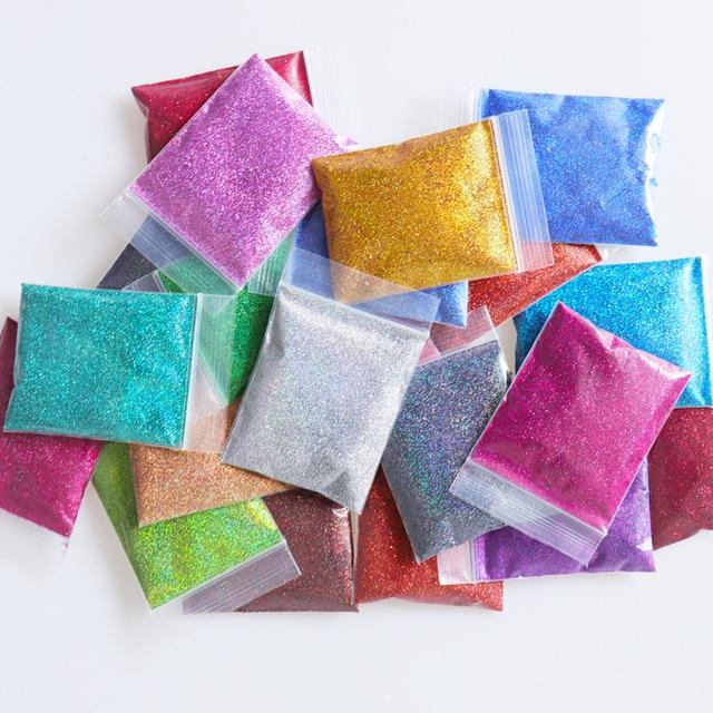21PCS/Set 0.2mm Holographic Glitter Nail Powder Shining Laser Fine Nail Glitter Sequins Dust Nails Art Decorations Tips Manicure 6