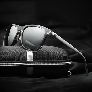 2020 Brand Design Aluminium Magnesium Square Polarized Sunglasses Men Women Vintage Driving Mirror Sun Glasses For Male UV400