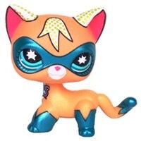 Лпс стоячки кошки Игрушки для кошек lps, редкие подставки, маленькие короткие волосы, котенок, розовый#2291, серый#5, черный#994,, коллекция фигурок для питомцев - Цвет: super