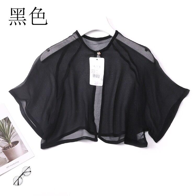 Women's 100% Pure Silk Thin Short Shawl Cardigan Cappa Blouse Top Shirt ONE SIZE JN104