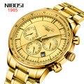 Nibosi новый стиль часы мужские-стиль бизнес часы многофункциональные водонепроницаемые кварцевые часы