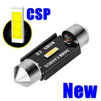 Nuevo adorno CSP bombillas LED 31mm 36mm 39mm 41mm C5W C10W Super brillante luz de techo de automóvil Canbus No Error Auto Interior lámparas de lectura