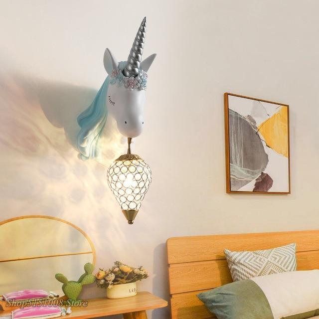 מנורת חד קרן לחדר הילדים - תאורת LED חסכונית 2