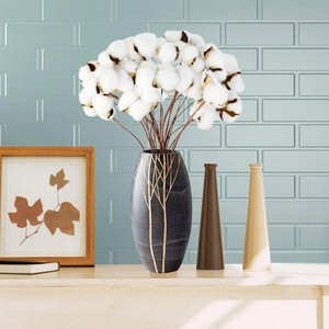 1pc Natural Cotton Dried Flowers Home Furnishings Wedding Decoration White Cotton Flower Branch Simple Modern Dried Flowers