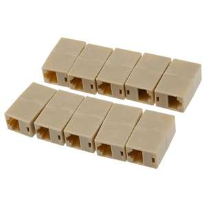 10 X CAT5 RJ45 Network Cable Extender Plug Coupler Joiner Splitter Connector Adapter