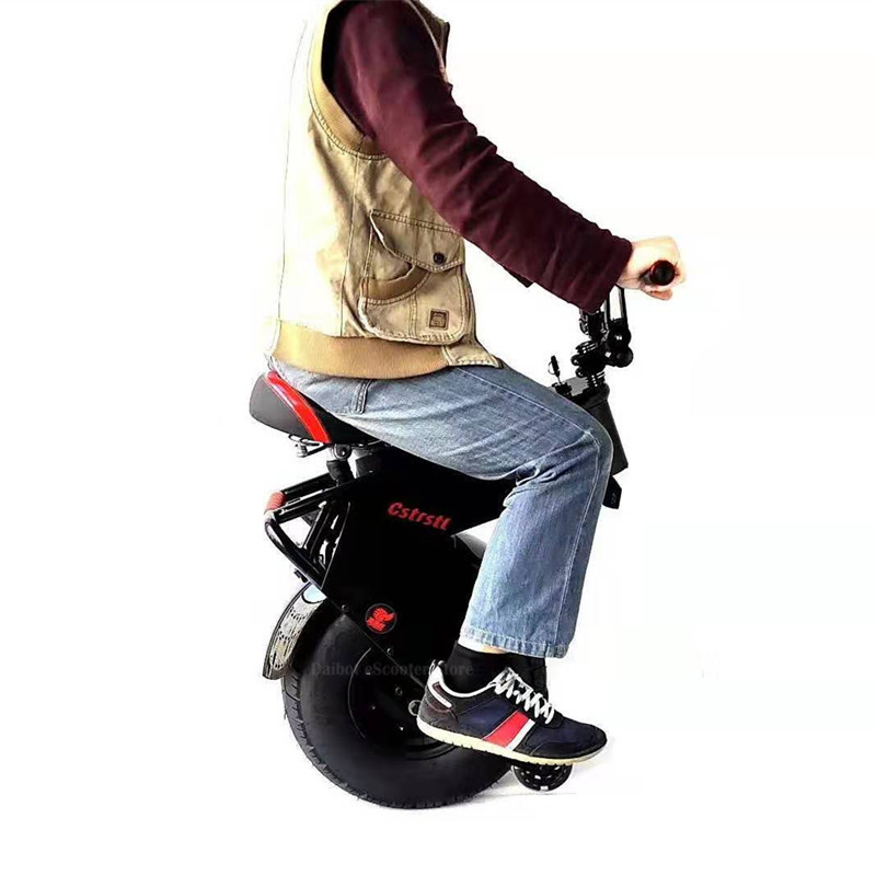 Electric Unicycle With Seat 1000W 60V One Wheel Self-balancing Electric Scooter Motorcycle For Adults 18 Inch Big Wheel 5