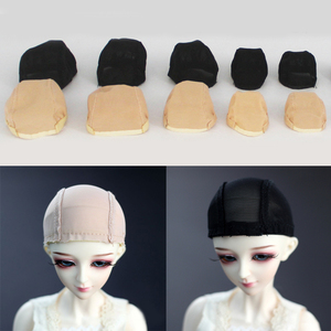 BJD Doll Wigs Handmade Headgear Wigs Cap Doll Accessories DIY Fixed-Wig Hairnet Hair Net For For 1/3 1/4 1/6 SD BJD Toy Wig Hat(China)